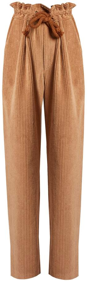 ISABEL MARANT Roy tie-waist corduroy trousers