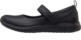 Skechers Girls Microburst Scholar Holler Shoes Black