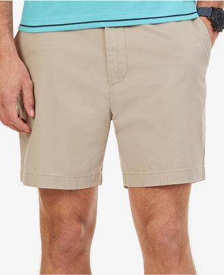 "Nautica Men's Flat Front 6"" Shorts $55 thestylecure.com"