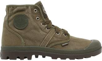 Palladium Pallabrouse Washed Canvas Mid Boots