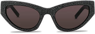 Saint Laurent Grace Sunglasses in Black | FWRD