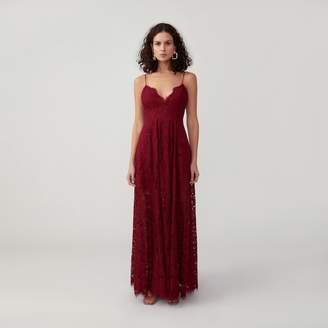 Fame & Partners V-Neck Full Skirt Dress