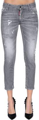 DSQUARED2 Super Skinny Cropped Denim Jeans