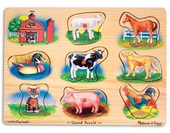 Carter's Farm Sound Puzzle Toy