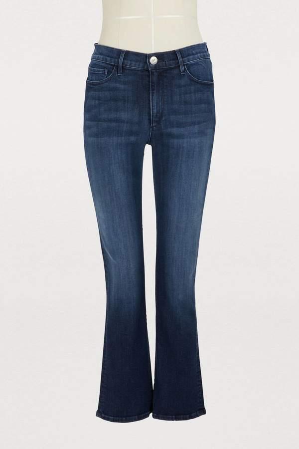 W2 crop bootcut jeans