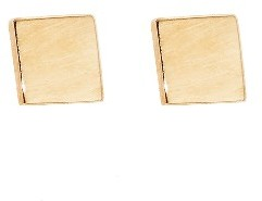 Jennifer Meyer Square Studs - Rose Gold