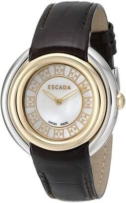 Escada Women's IWW-E2460034 Ivory Analog Display Swiss Quartz Black Watch
