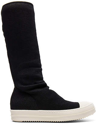 DRKSHDW by Rick Owens Sock Sneakers in Black $722 thestylecure.com