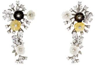 Mother of Pearl Angélique de Paris & Crystal Garland Earrings