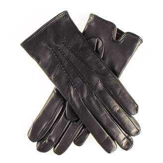 Black Classic Cashmere Lined Leather Gloves
