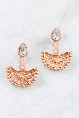 Satya Rose Gold White Topaz Teardrop Earrings