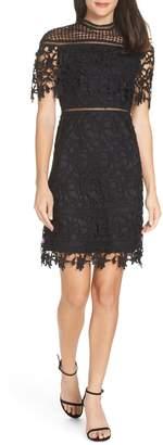 CHI CHI LONDON Adita Crochet Lace Cocktail Dress