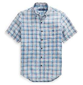 Polo Ralph Lauren Mens Classic Fit Plaid Linen Shirt