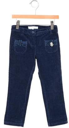 Tartine et Chocolat Girls' Corduroy Lace-Trimmed Pants w/ Tags