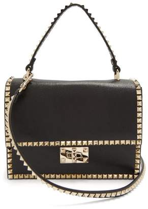 Valentino Rockstud No Limit Leather Cross Body Bag - Womens - Black