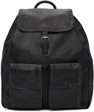 Saint Laurent Black Nino Vintage Leather Backpack