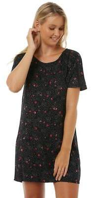 Volcom New Women's Not Ditsy Dress Viscose Black 8