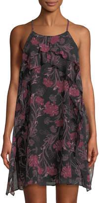 BCBGeneration Sleeveless Ruffled Dress