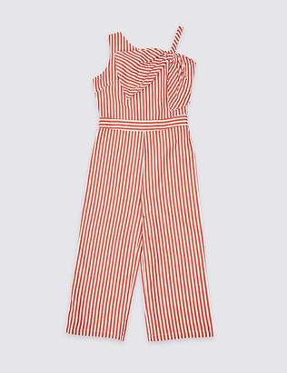 Marks and Spencer Pure Cotton Bow Jumpsuit (3-16 Years)