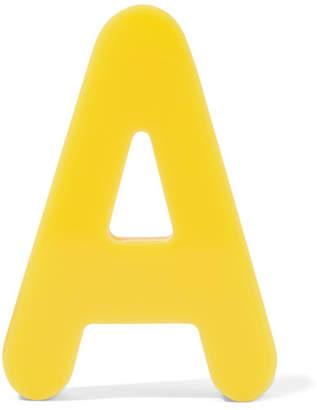 Balenciaga Magnet Acrylic Earring - Yellow