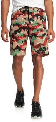 Valentino Men's Camo Cargo Shorts