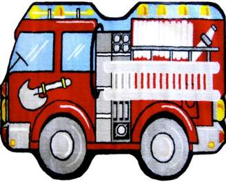 Fun Rugs Fun Shape High Pile Fire Truck Area Rug Rug