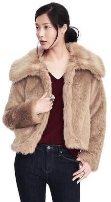 Faux Fur Cropped Coat $188 thestylecure.com