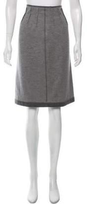 Saint Laurent Cashmere Knee-Length Skirt