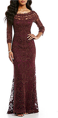 Tadashi Shoji Embroidered Lace Gown $558 thestylecure.com