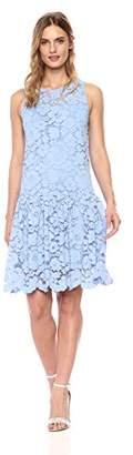 Gabby Skye Women's Floral Lace Mesh Dress