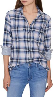 Sanctuary Favorite Boyfriend Plaid Cotton Shirt