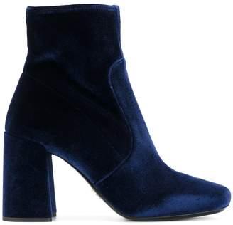 Prada velvet ankle boots