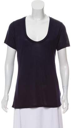 L'Agence Scoop Neck Short Sleeve Shirt w/ Tags