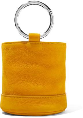Simon Miller - Bonsai 15 Nubuck Bucket Bag - Saffron $390 thestylecure.com