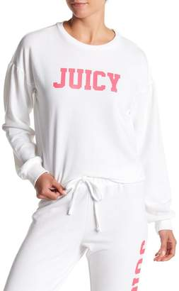Juicy Couture Drop Shoulder Logo Pullover