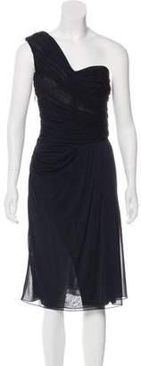 J. Mendel One-Shoulder Midi Dress