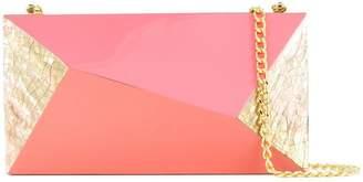 Rafe geometric shell clutch bag
