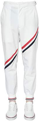 Thom Browne Nylon Track Trousers W/ Stripes
