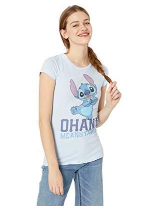 Disney Lilo & Stitch Ohana Juniors Women Boyfriend Tee