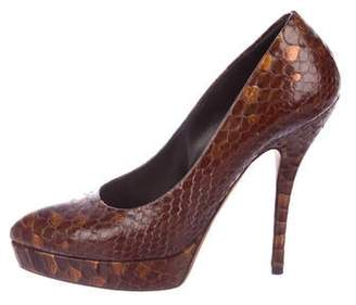 471bddce283f27 Pre-Owned at TheRealReal · Gucci Python Round-Toe Pumps