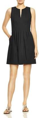 Halston Notched Neck Dress