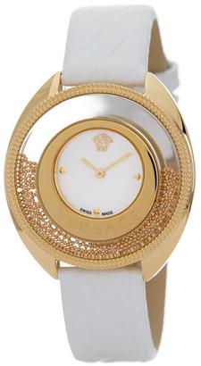 Versace Women's Small Destiny Spirit Croc Embossed Watch $1,595 thestylecure.com