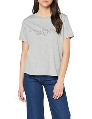 PURE Grey Opus Women's Safemi Print T-Shirt, Melange 8050), (Manufacter Size: 44)
