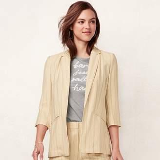 Lauren Conrad Women's Notch Long Blazer