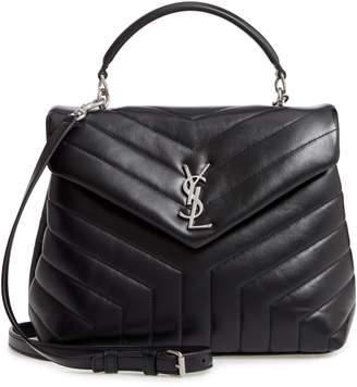 Saint Laurent Loulou Leather Top Handle Satchel