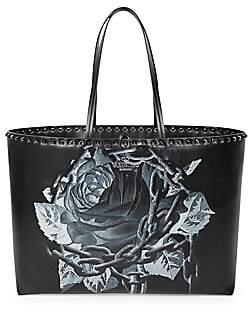 Valentino Garavani Women's Rockstud Undercover Floral Leather Tote
