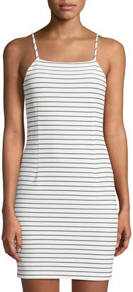 1 STATE 1.State Striped Sleeveless Bodycon Dress