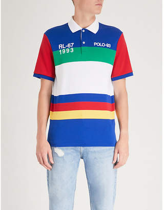 Polo Ralph Lauren Striped-pattern cotton polo shirt