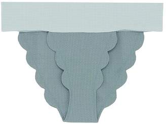 Marysia Swim 'Santa Clara' colourblock waist scalloped bikini bottoms