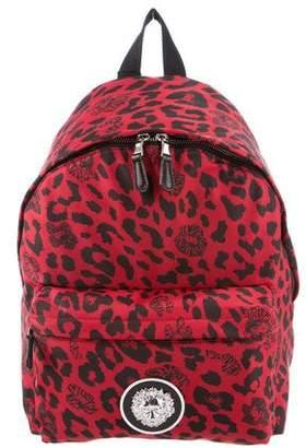 Versus Leopard Print Nylon Backpack w/ Tags